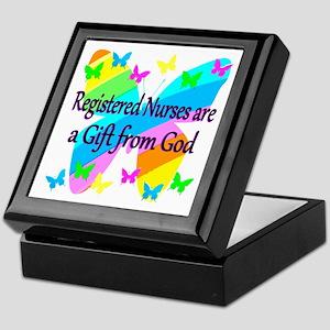 RN NURSE PRAYER Keepsake Box