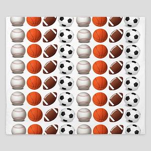 Sports Balls King Duvet
