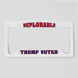 DEPLORABLE TRUMP VOTER License Plate Holder