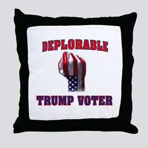 DEPLORABLE TRUMP VOTER Throw Pillow