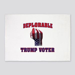 DEPLORABLE TRUMP VOTER 5'x7'Area Rug