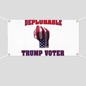 DEPLORABLE TRUMP VOTER Banner