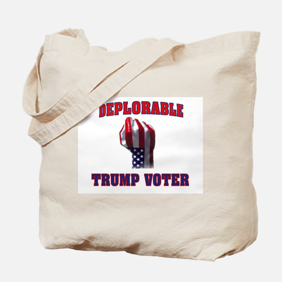 DEPLORABLE TRUMP VOTER Tote Bag