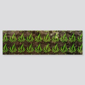 Pot Leaf Pattern Bumper Sticker