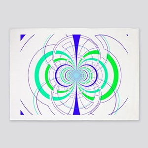 Rotation Blue & Green 5'x7'Area Rug