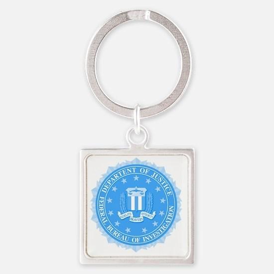 Funny Fbi seal Square Keychain