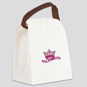 African Princess Canvas Lunch Bag