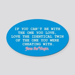 Identical Twin JtV Oval Car Magnet