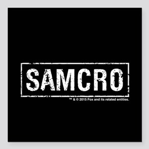 "SAMCRO Square Car Magnet 3"" x 3"""