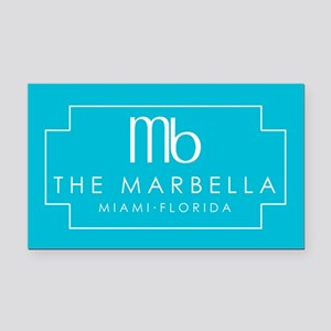 Marbella Jane The Virgin Rectangle Car Magnet