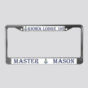Kiowa Lodge License Plate Frame