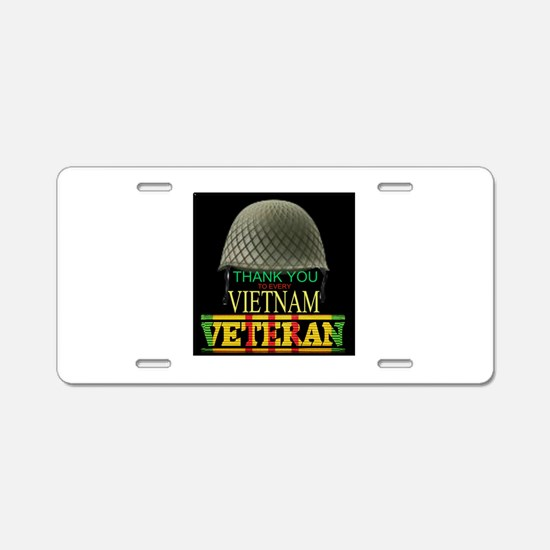Thank A Viet Vet Aluminum License Plate
