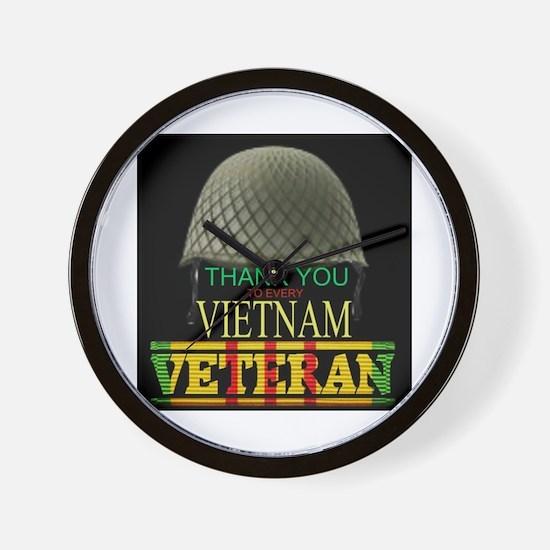 Thank A Viet Vet Wall Clock