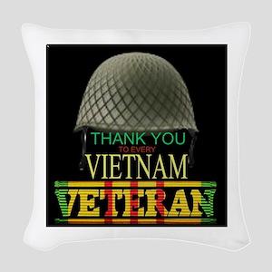 Thank A Viet Vet Woven Throw Pillow