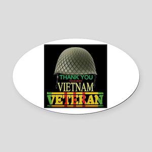 Thank A Viet Vet Oval Car Magnet