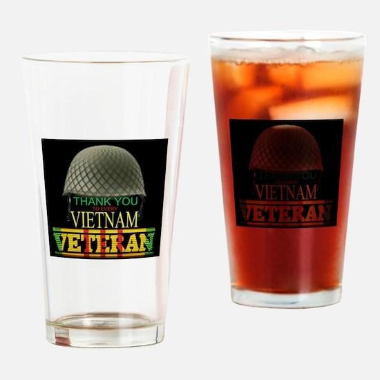Thank A Viet Vet Drinking Glass