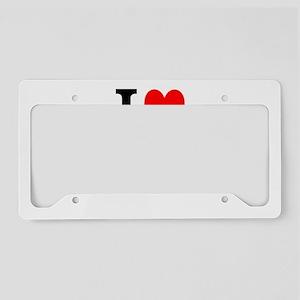 I Love Wolverines License Plate Holder