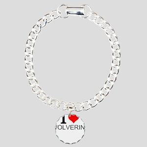 I Love Wolverines Bracelet