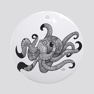 Octopus Plus One Round Ornament