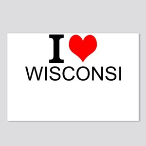 I Love Wisconsin Postcards (Package of 8)