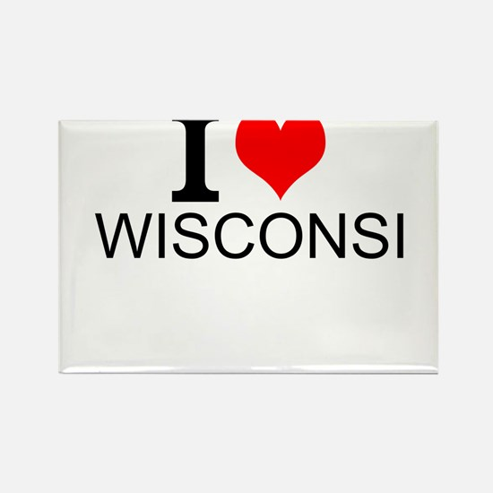 I Love Wisconsin Magnets