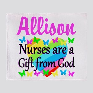 BLESSED NURSE Throw Blanket