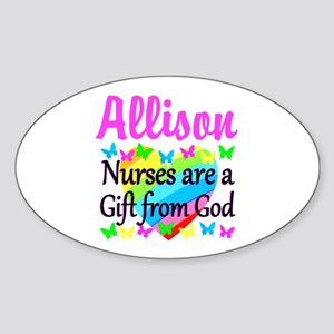 BLESSED NURSE Sticker (Oval)