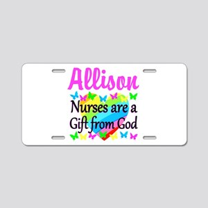 BLESSED NURSE Aluminum License Plate