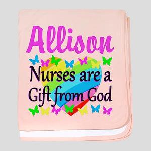 BLESSED NURSE baby blanket