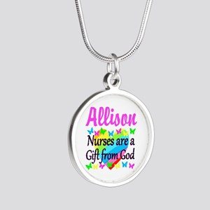 BLESSED NURSE Silver Round Necklace