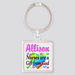 BLESSED NURSE Square Keychain