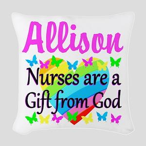 BLESSED NURSE Woven Throw Pillow