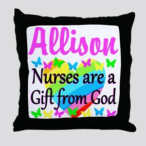 BLESSED NURSE Throw Pillow