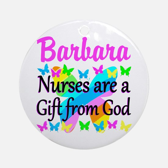 BLESSED NURSE Round Ornament