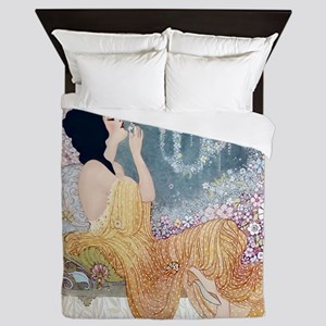 Art Deco Vanity Lady Queen Duvet