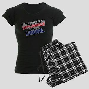 Better Deplorable Than Liber Women's Dark Pajamas