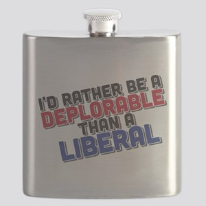 Better Deplorable Than Liberal Flask