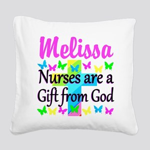 BLESSED NURSE Square Canvas Pillow
