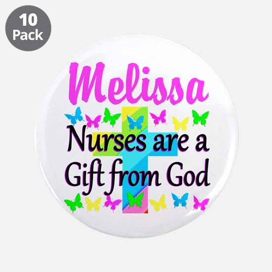 """BLESSED NURSE 3.5"""" Button (10 pack)"""