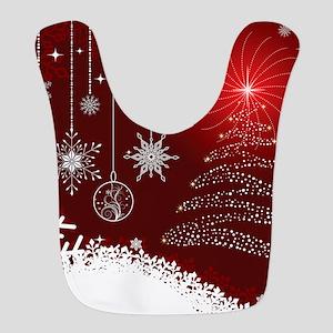 Decorative Christmas Ornamental Polyester Baby Bib