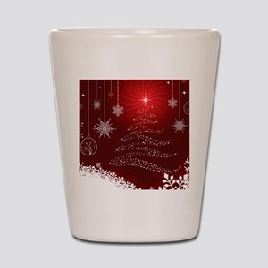 Decorative Christmas Ornamental Snowfla Shot Glass