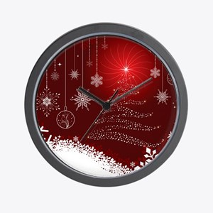Decorative Christmas Ornamental Snowfla Wall Clock