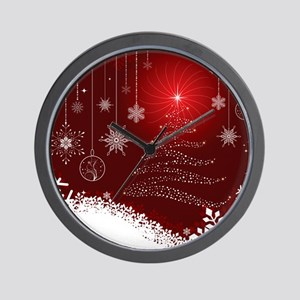Decorative Christmas Ornamental Snowfla Wall Clock