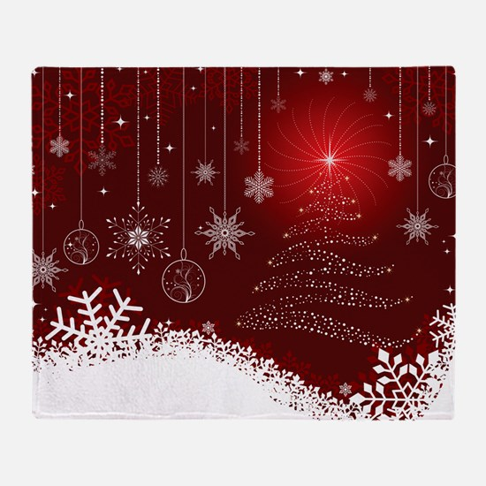 Decorative Christmas Ornamental Snow Throw Blanket