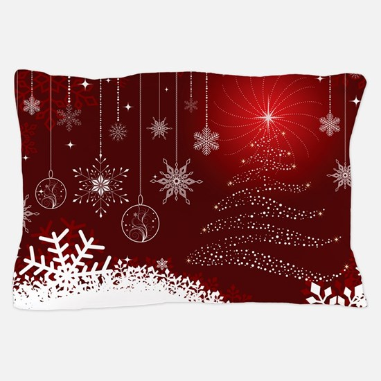 Decorative Christmas Ornamental Snowfl Pillow Case