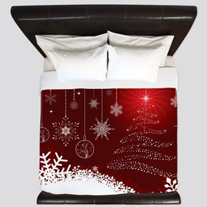 Decorative Christmas Ornamental Snowfla King Duvet