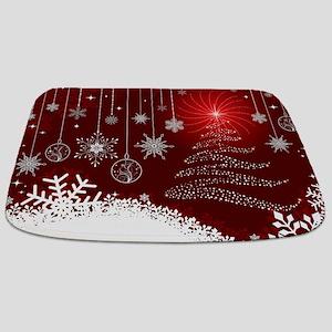 Decorative Christmas Ornamental Snowflakes Bathmat