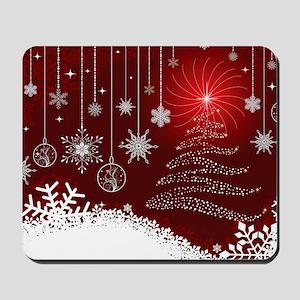 Decorative Christmas Ornamental Snowflak Mousepad