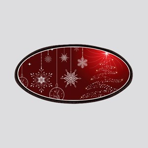 Decorative Christmas Ornamental Snowflakes Patch