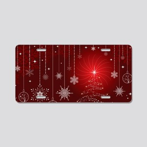 Decorative Christmas Orname Aluminum License Plate